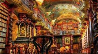 O biblioteca bijuterie din Praga, cum rar ne e dat sa vedem