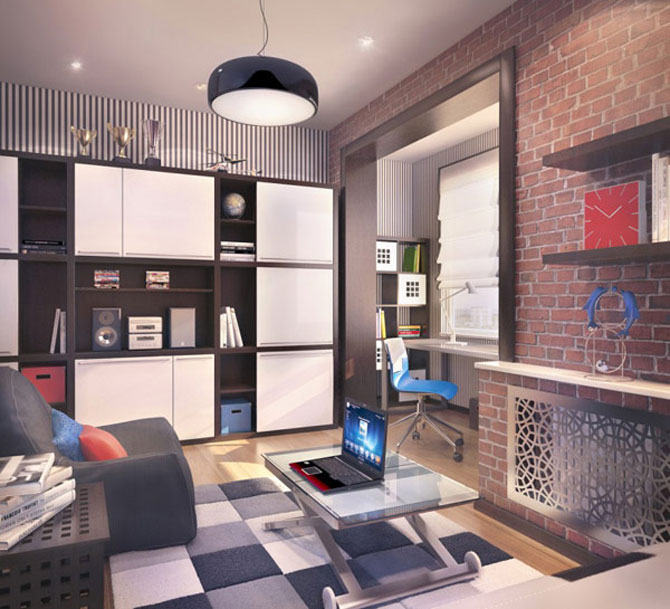 Дизайн спальни со скошенными потолками