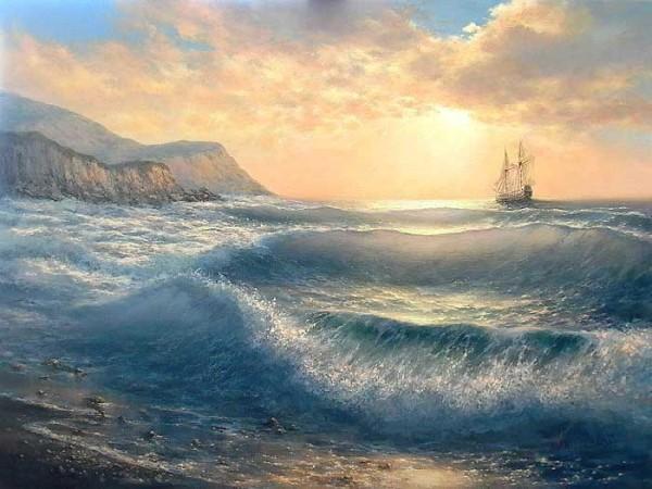 35 de picturi: Marea si corabiile