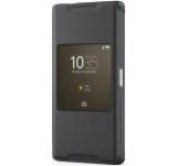 Husa S-View Sony SCR44, rezistenta la apa, pentru Sony Xperia Z5 Compact (Negru)