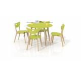 Set Masa Peppita Lime + 4 scaune