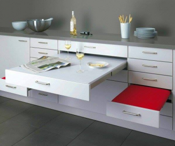 Idei ingenioase de depozitare in bucatariile mici