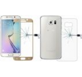 Folie protectie Sticla Temperata OEM pentru Samsung Galaxy S6 Edge Plus, fata/spate (Auriu)