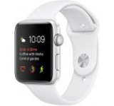 Smartwatch Apple Watch 2 Sport, Retina OLED Capacitive touchscreen 1.5inch, Bluetooth, Wi-Fi, Bratara Silicon 38mm, Carcasa Aluminiu, Rezistent la apa si praf (Argintiu/Alb)
