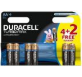Baterie Duracell Turbo Max AA LR06 4+2 gratis