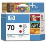 Cap printare HP 70 (Negru mat / Rosu)