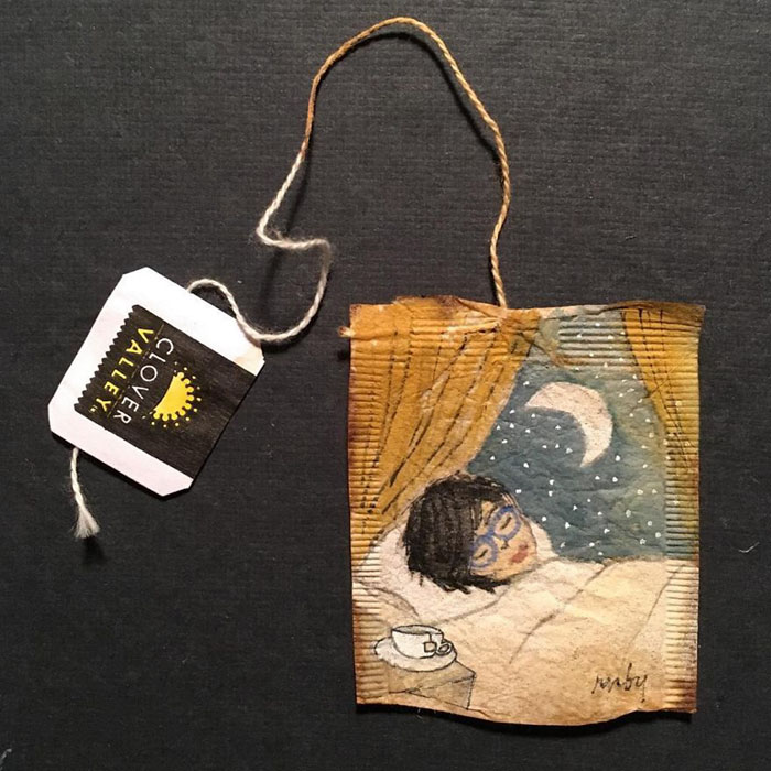 Pictura pe saculeti de ceai, de Ruby Silvious - Poza 3