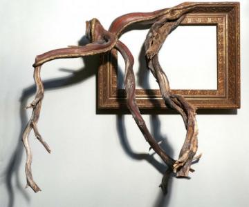 Fuziune artistica: Rame de tablouri, ca prelungiri de copaci