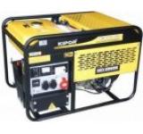 Generator Curent Electric Kipor KGE 12 E3, 10.5 kVA, Motor 2 cilindrii in V, 4 timpi, cadru deschis, Benzina, Autonomie 4 ore