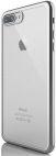 Protectie spate Devia DVGLTSFIPH7SV Silicon Glitter Soft pentru Apple iPhone 7/7S (Argintiu)