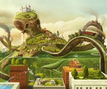 Full HD Wallpaper: The Octopus World