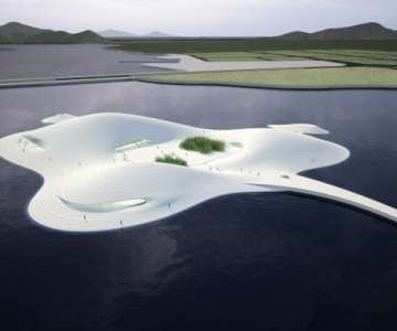 Muzeul de arta din Pingtang, in forma de pisica de mare