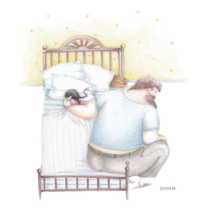 Relatia dintre tata si fiica, in ilustratii emotionante - Poza 8