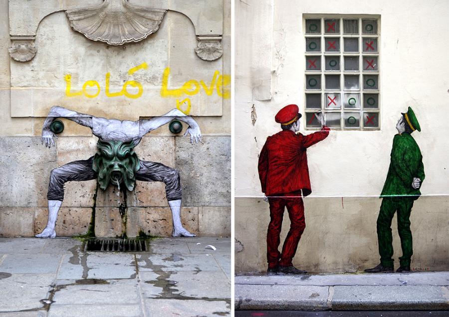 Ilustratii satirice pe strazile Parisului - Poza 3