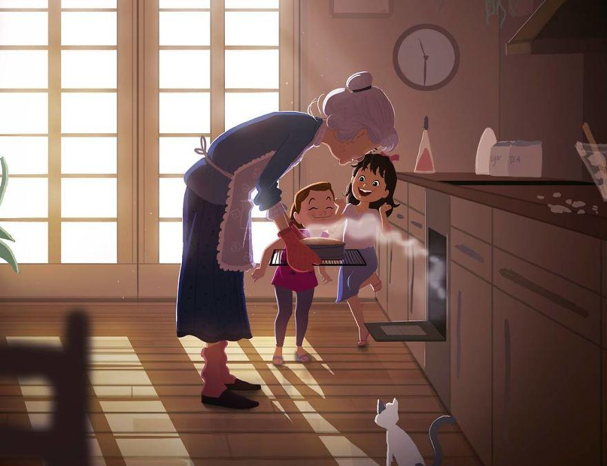 Cele mai frumoase clipe ale copilariei, in ilustratii nostalgice - Poza 1