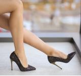 Pantofi Santa Negru-Auriu