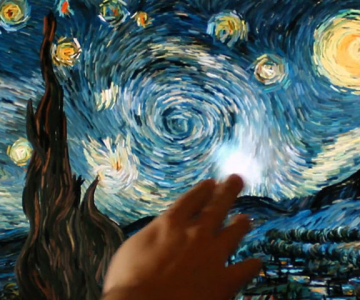 Un inginer grec animeaza Noaptea lui van Gogh