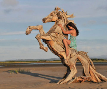Sculpturi din lemne culese din ocean, de Jeffro Uitto