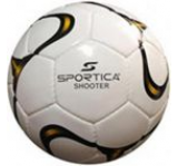 Minge de fotbal Sportica SHOOTER (Alb/Negru/Galben)