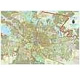 Harta Bucuresti. Zona Centrala (sipci de plastic)