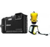 Aparat Foto Digital NIKON COOLPIX AW130 Diving Kit (Negru), Filmare Full HD, 16MP, Zoom Optic 5x, GPS, Wi-Fi, NFC, Rezistent la apa, socuri, praf si frig