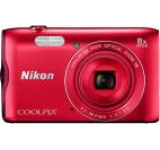 Aparat Foto Digital NIKON COOLPIX A300, Filmare HD, 20.1 MP, Zoom Optic 8x (Rosu)