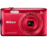 Aparat Foto Digital NIKON COOLPIX A300, Filmare HD, 20.1 MP, Zoom Optic 8x (Rosu)