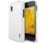 Protectie spate Ringke Slim 594304 pentru LG Google Nexus 4 (Alb) + Folie protectie