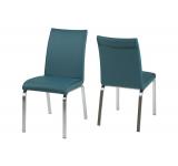 Set 4 scaune din metal Leonora-B Petrol