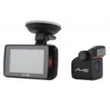 Camera Auto Mio MiVue 698 Dual, Extreme HD frontal/Full HD spate, LCD 2.7inch, IR, LDWS, Dual Cam (Negru)
