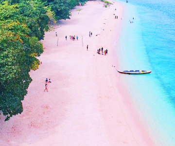 Cum arata cea mai frumoasa plaja cu nisip roz
