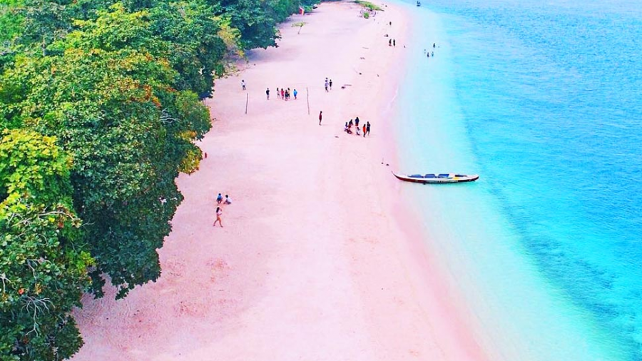 Cum arata cea mai frumoasa plaja cu nisip roz - Poza 1