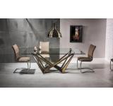 Set Masa din sticla Aston + 6 scaune H-455
