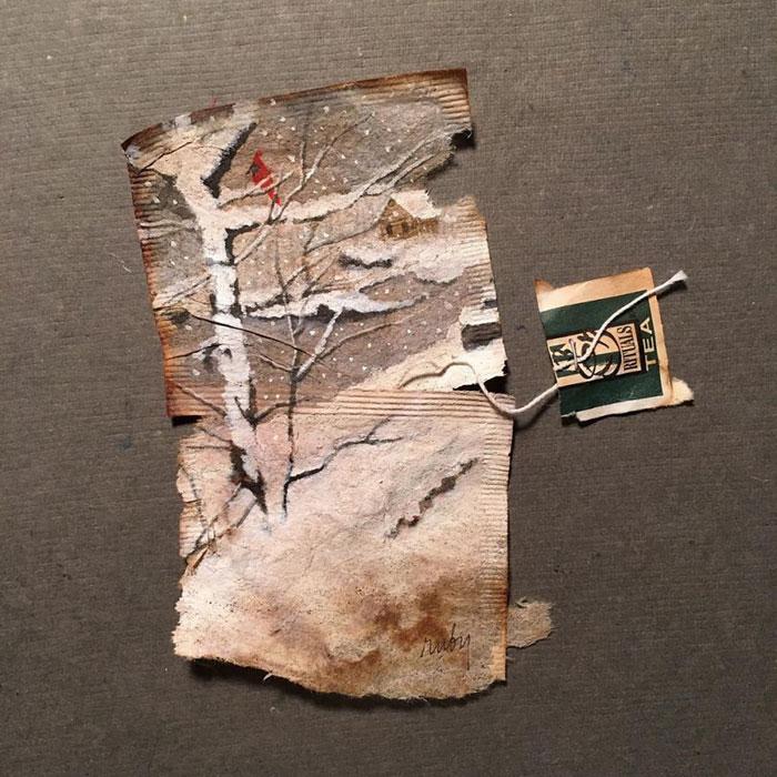 Pictura pe saculeti de ceai, de Ruby Silvious - Poza 19