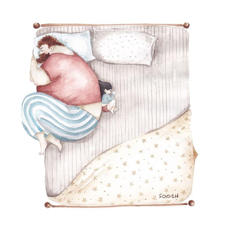 Relatia dintre tata si fiica, in ilustratii emotionante - Poza 10