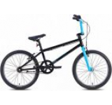 Bicicleta Leader Fox Freeride 2015, Cadru 9inch, Roti 20inch (Negru/Albastru)