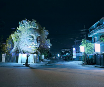 Spiritele copacilor - o instalatie cu lumina si zei