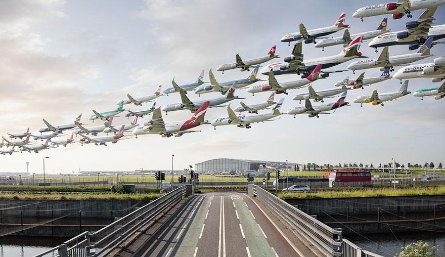 Portrete aeriene: Uimitorul zbor simultan al unor zeci de avioane - Poza 4