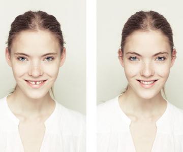 Simetrie si frumusete: Portrete oglindite de Alex John Beck