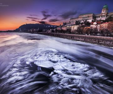 Frumusetea Dunarii inghetate, in poze superbe