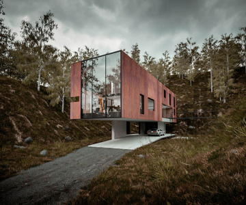 Casa minimalista si suspendata a unui fotograf in Tara Galilor