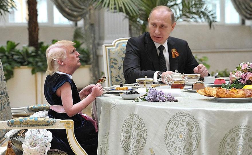 Donald Trump, ridiculizat de internauti, in poze haioase - Poza 19