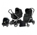 Carucior copii Peg-Perego 3 in1 Book Plus S Black POP-UP Onyx (Negru)