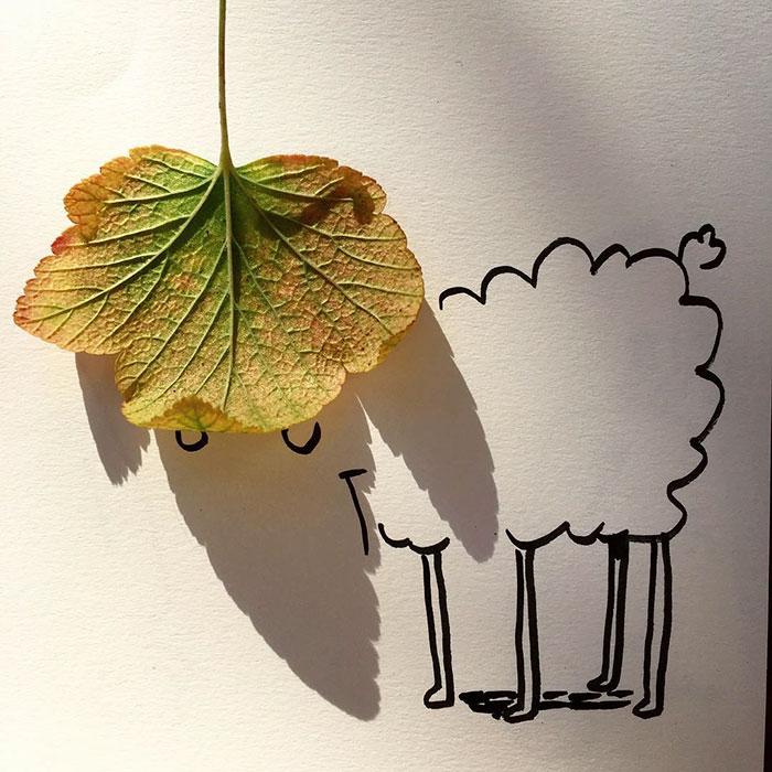 15+ Ilustratii haioase cu umbre - Poza 11