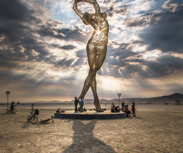Superba sculptura de la Burning Man