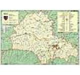 Harta judetului Brasov cu sipci de lemn
