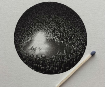 Arta miniaturala cu grafit, de Mateo Pizarro