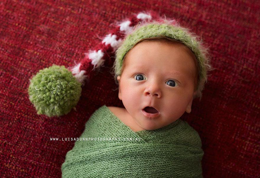 15+ Bebelusi adorabili in asteptarea Craciunului - Poza 10