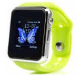Smartwatch cu Telefon iUni A100i 1294, BT, LCD Capacitive touchscreen 1.54 Inch, Camera (Verde)