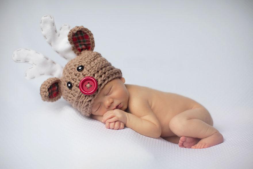 15+ Bebelusi adorabili in asteptarea Craciunului - Poza 16
